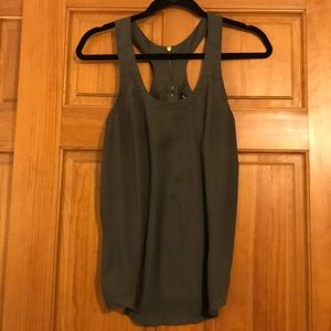 Army green express tank top